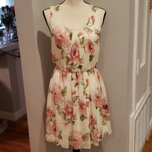 Fortune + Ivy soft yellow floral dress